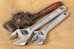 OLD PIPE WRENCH Stock Images