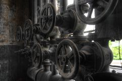 Old pipes and valves Stock Image