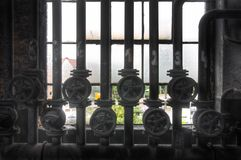 Old pipes and valves Royalty Free Stock Photo