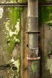 Old pipes on wall Stock Images