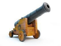 Old pirate cannon Stock Photo
