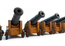 Old pirate cannons Stock Image