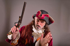Old pirate doesn't beleive Royalty Free Stock Images