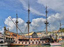Old pirate ship Stock Images
