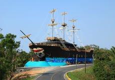 Old Pirate Ship in Roatan Stock Photo