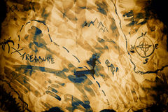 Old pirate treasure map background Royalty Free Stock Photography