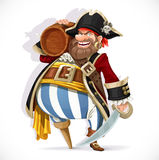 Old pirate with a wooden leg Royalty Free Stock Photo