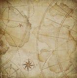 Old pirates map illustration Stock Image