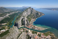 Old pirates town Omis, Croatia stock photo