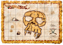 Old pirates treasures map Stock Image