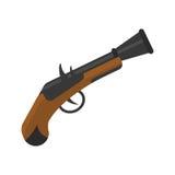 Old pistol gun icon vector illustration. Royalty Free Stock Photos