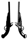 Old pistols Stock Photo