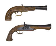 Old pistols. Isolated on white Stock Photography