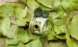 Old piston, valves Stock Images