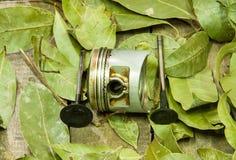 Old piston, valves Royalty Free Stock Photo