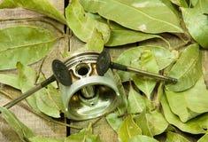 Old piston, valves Royalty Free Stock Photography