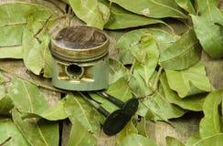 Old piston, valves Royalty Free Stock Image