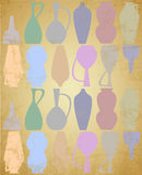 Old Pitcher Silhouettes Royalty Free Stock Images