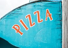 Old Pizza sign Royalty Free Stock Photo