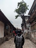 Once up a time in old city lijiang royalty free stock photography
