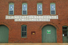 Old �Plains Cotton Warehouse� building in Plains, Georgia Stock Images