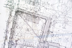 Old plan of city Stock Photos