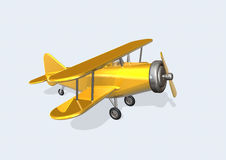 Old Plane. 3d image of a old plane Stock Images