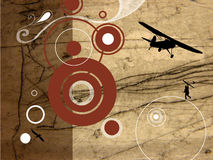 Old plane. Grunge design with old plane royalty free illustration