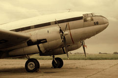 Old Plane. The old Curtiss C-46 Commando, twin radial engined transport Royalty Free Stock Image