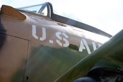 Old plane. US Air Force plane Royalty Free Stock Image