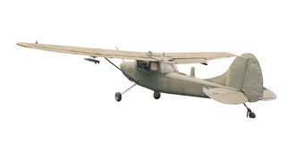 Old plane fighter isolate on white Stock Image