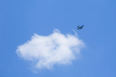 Old plane flying Stock Photography