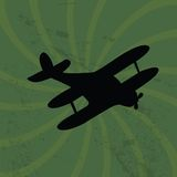Old plane on grunge  background Royalty Free Stock Image
