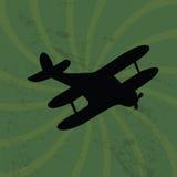 Old plane on grunge  background Royalty Free Stock Image