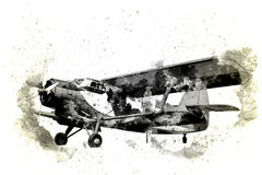 Old plane isolated on a background. Old plane isolated on a white background stock photography