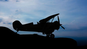 Old plane on the mountain Royalty Free Stock Photography