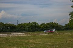 Old plane stock photo
