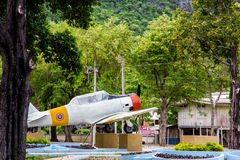 The Old plane in park royalty free stock photos