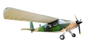 Old plane on white background Stock Image