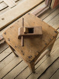 Old plane for wood working. Royalty Free Stock Photos