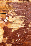 Old plank with chipped color remains Stock Image
