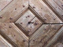 Old plank door detail Stock Image