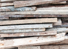 Old plank pile Royalty Free Stock Image