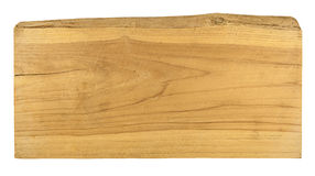 Old plank wood isolated on white background.  Royalty Free Stock Image