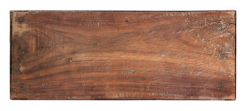 Old plank of wood on white background Stock Photo