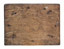 Old plank of wood on white background. Old plank of wood isolated on white background with Clipping Path Stock Photos