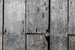Old plank wooden floor  background damaged Royalty Free Stock Photo