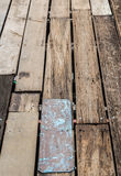 Old plank wooden wall Stock Photo