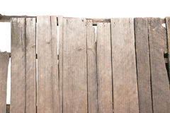 Old plank wooden on white background isolated Royalty Free Stock Photo