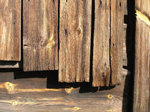 Old planks. Of a booth Royalty Free Stock Image